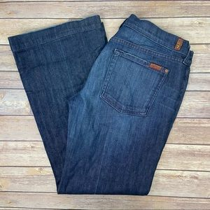 7FAMK Slim Trouser Dark Wash Jeans
